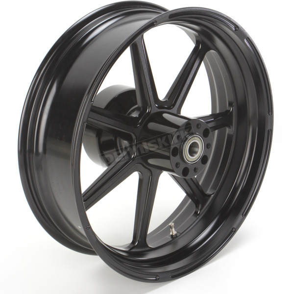 Roland Sands Design 18 in. x 5.5 in. Morris One-Piece Black Ops Aluminum Wheel for Models w/ ABS  - 12697814RMRSSMB