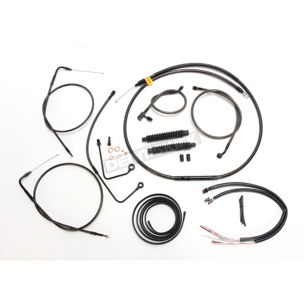 Complete Midnight Series Handlebar Cable/Brake Line Kit for use w/Beach Bars w/ABS - LA-8151KT2A-04M