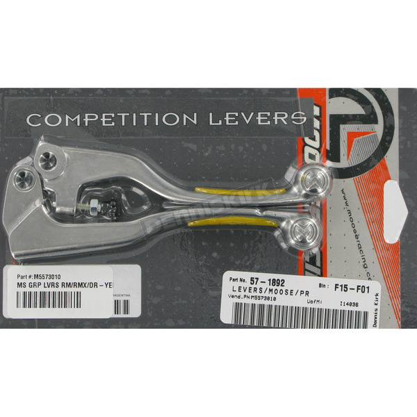 Moose Competition Lever Set w/Yellow Grip   - M557-30-10