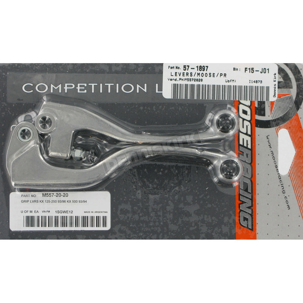 Moose Competition Lever Set w/Black Grip - M557-20-20