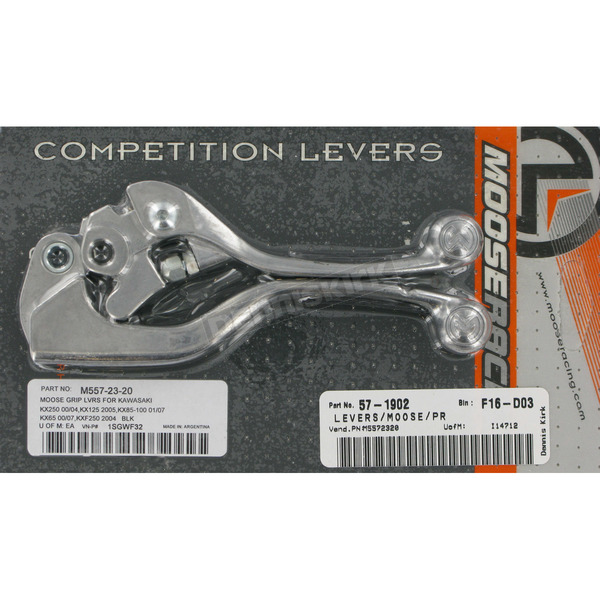 Moose Competition Lever Set w/Black Grip - M557-23-20