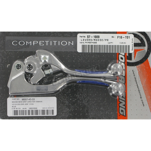 Moose Competition Lever Set w/Blue Grip  - M557-43-33