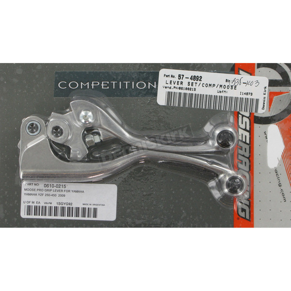 Moose Competition Lever Set w/Black Grip - 0610-0215
