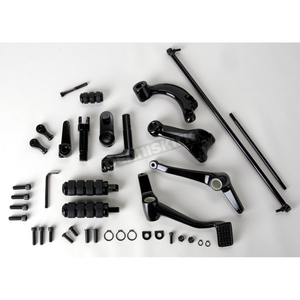Drag Specialties Black Forward Control Kit - +2 in. Extended - 1622-0350