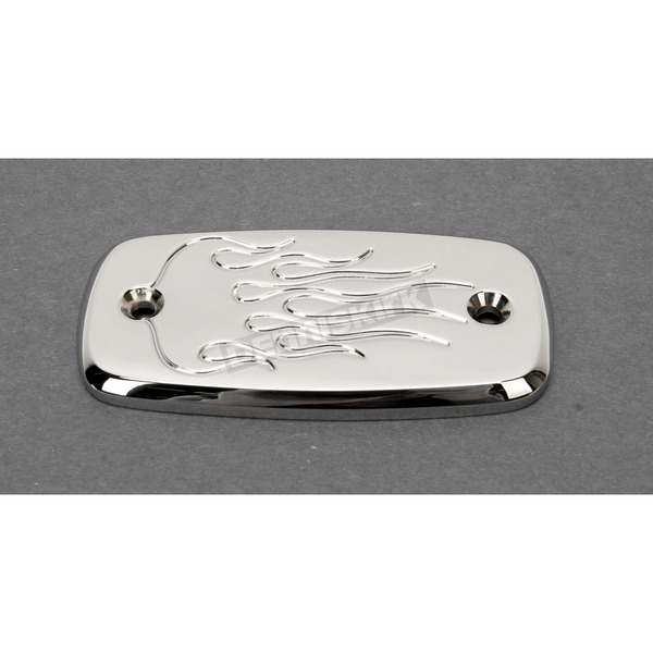 Baron Custom Accessories Flame Master Cylinder Reservoir Cover - BA-7681-03