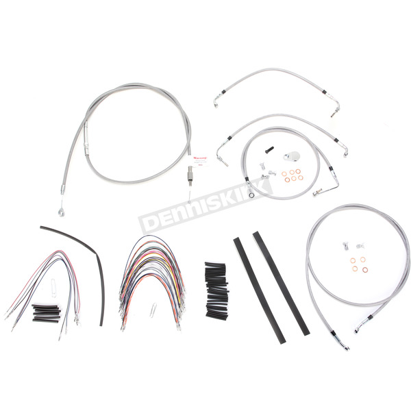 Burly Brand Braided Stainless Steel Cable/Line Kit w/ABS - B30-1095