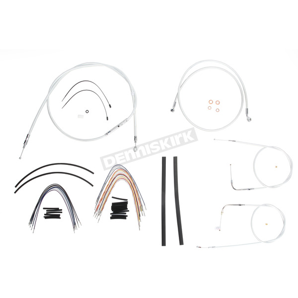 Magnum Custom Sterling Chromite II Designer Series Handlebar Installation Kit for Use w/18 in. - 20 in. Ape Hangers - 387103