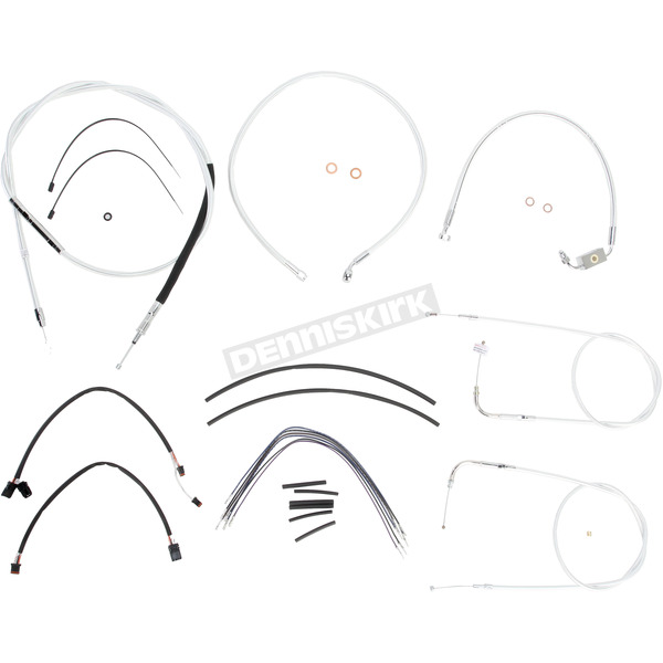 Magnum Custom Sterling Chromite II Designer Series Handlebar Installation Kit for Use w/15 in. - 17 in. Ape Hangers (w/ABS)  - 387142