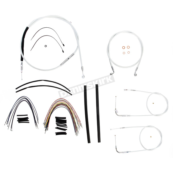 Magnum Custom Sterling Chromite II Designer Series Handlebar Installation Kit for Use w/12 in. - 14 in. Ape Hangers (Non-ABS) - 387161