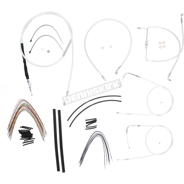 Magnum Custom Sterling Chromite II Designer Series Handlebar Installation Kit for Use w/18 in. - 20 in. Ape Hangers (Non-ABS)  - 387193
