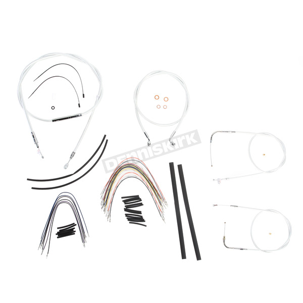 Magnum Custom Sterling Chromite II Designer Series Handlebar Installation Kit for Use w/12 in. - 14 in. Ape Hangers - 387241