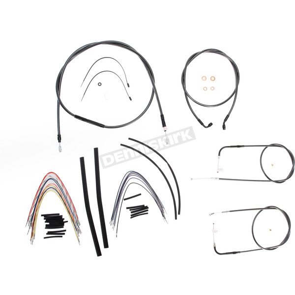 Magnum Black Pearl Designer Series Handlebar Installation Kit for Use w/18 in. - 20 in. Ape Hangers - 487103