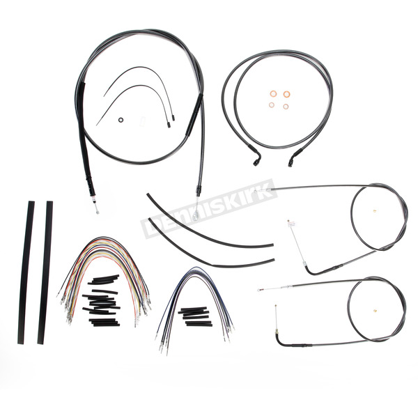 Magnum Black Pearl Designer Series Handlebar Installation Kit for Use w/18 in. - 20 in. Ape Hangers (Non-ABS)  - 487123