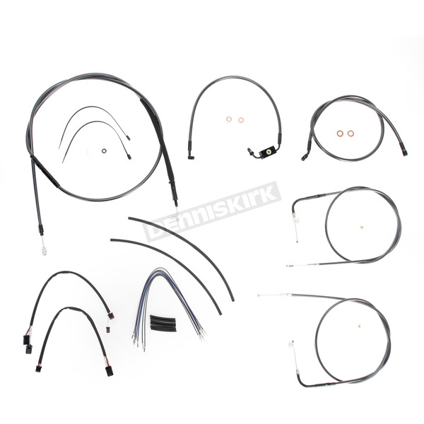 Magnum Black Pearl Designer Series Handlebar Installation Kit for Use w/15 in. - 17 in. Ape Hangers (w/ABS)  - 487142