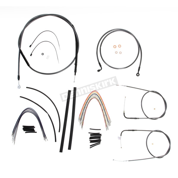 Magnum Black Pearl Designer Series Handlebar Installation Kit for Use w/15 in. - 17 in. Ape Hangers (Non-ABS)  - 487152