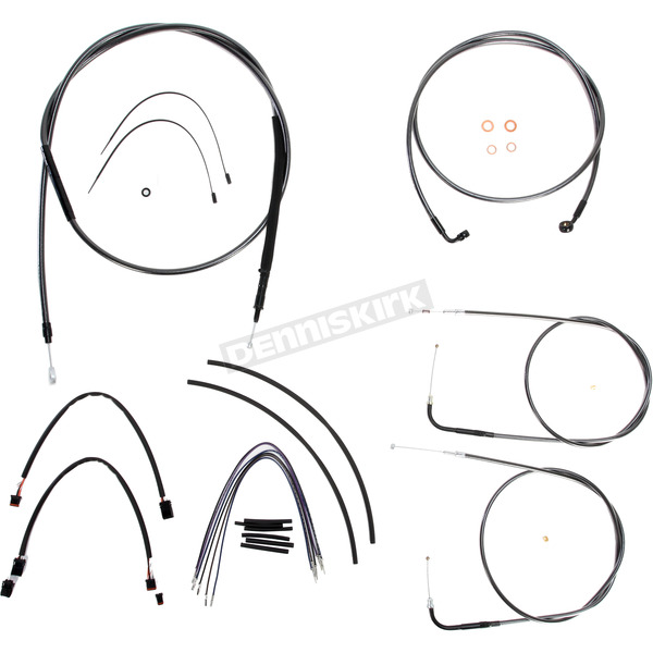 Magnum Black Pearl Designer Series Handlebar Installation Kit for Use w/12 in. - 14 in. Ape Hangers (Non-ABS) - 487171