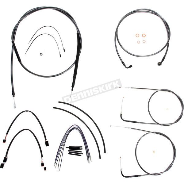 Magnum Black Pearl Designer Series Handlebar Installation Kit for Use w/18 in. - 20 in. Ape Hangers (Non-ABS) - 487173