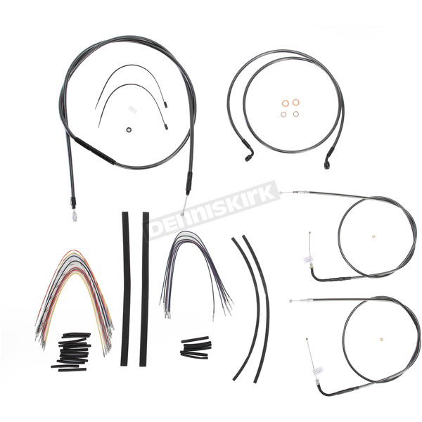 Magnum Black Pearl Designer Series Handlebar Installation Kit for Use w/12 in. - 14 in. Ape Hangers - 487451