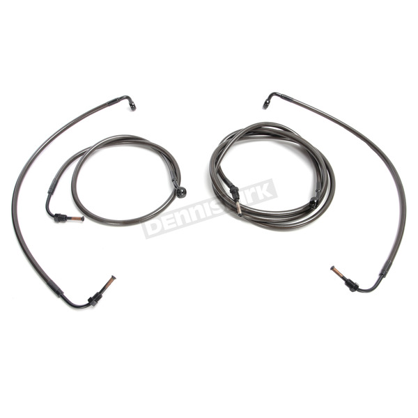 LA Choppers Complete Cable and Brake Kit For Use w/Mini  Ape Hangers w/o ABS - LA-8055KT2-08M