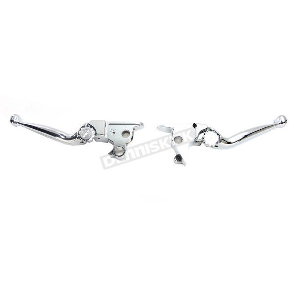 Powerstands Racing Chrome Journey Brake/Clutch Lever Set  - 12-00606-20