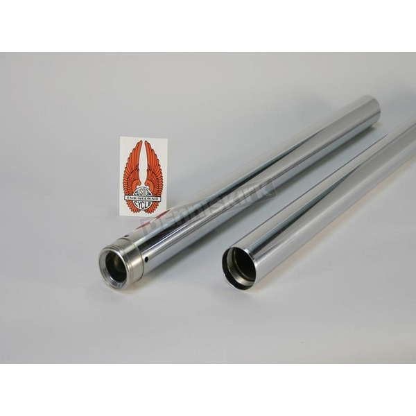 Custom Cycle Engineering Chrome Fork Tubes - 2 in. Over FXDWG/4 in. Over FXD - T2015