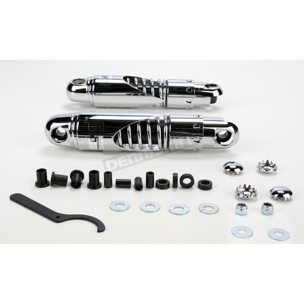 Progressive Suspension Chrome Standard 812 Series Double Cut Shocks - 90/130 Spring Rate (lbs/in) - 812-4062CDC