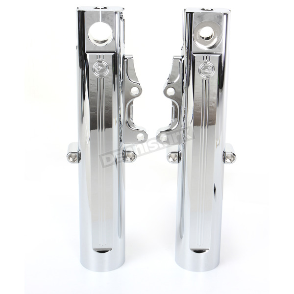 Performance Machine Chrome Fork Leg Kit for Single Disc Brakes - 0208-2097-CH