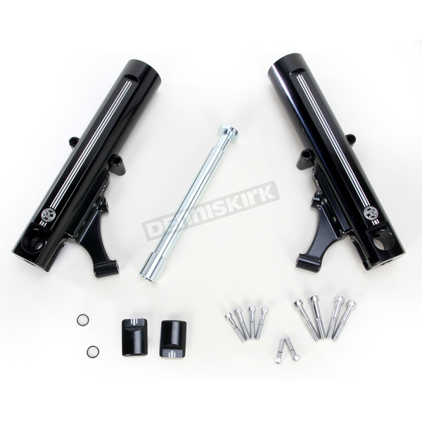 Performance Machine Contrast Cut Dual Disc Fork Leg Kit for Radial Mount Calipers - 0208-2098-BM