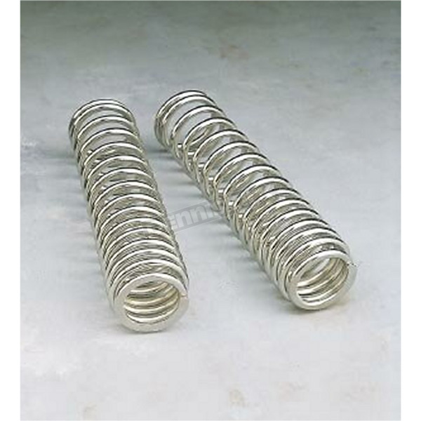 Progressive Suspension Chrome Shock Springs for 12, 13 and 412 Series Dual Shocks - 90/130 Spring Rate (lbs/in) - 03-1367C