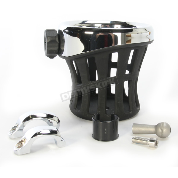 Ciro Drink Holder w/Chrome 7/8 - 1 in. Bar Mount - 50412