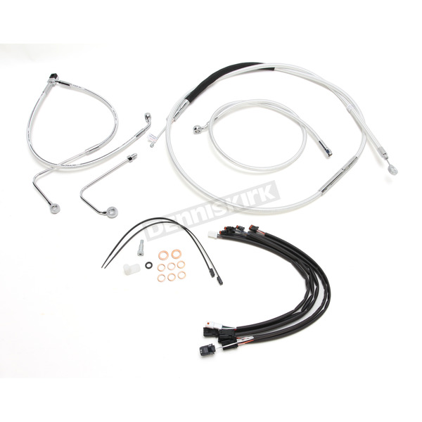 Magnum Sterling Chromite II Caliber Handlebar Installation Kit W/ 14 in. Ape Hanger Bars - 38878-114