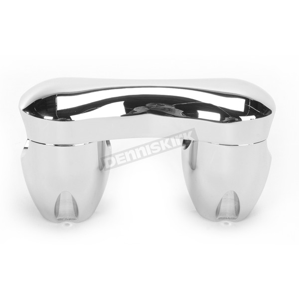 Alloy Art Counter-Bored Handlebar Risers-One Piece 3-D Custom Clamp - RA-3C