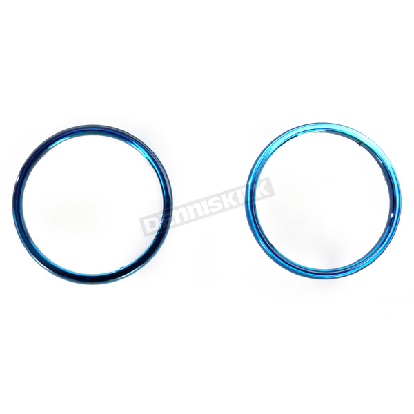 Kuryakyn Blue Smooth Accent Rings For ISO-Grips - 6266