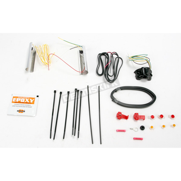 Heat Demons Grip Warmer Kit for 1 1/4  in. Handlebars - Right-Side Mount (Except Electronic Throttle) - 214046