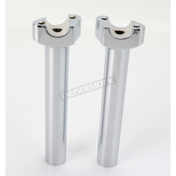 Drag Specialties 7 1/2 in. Chrome Straight Risers - 0602-0402