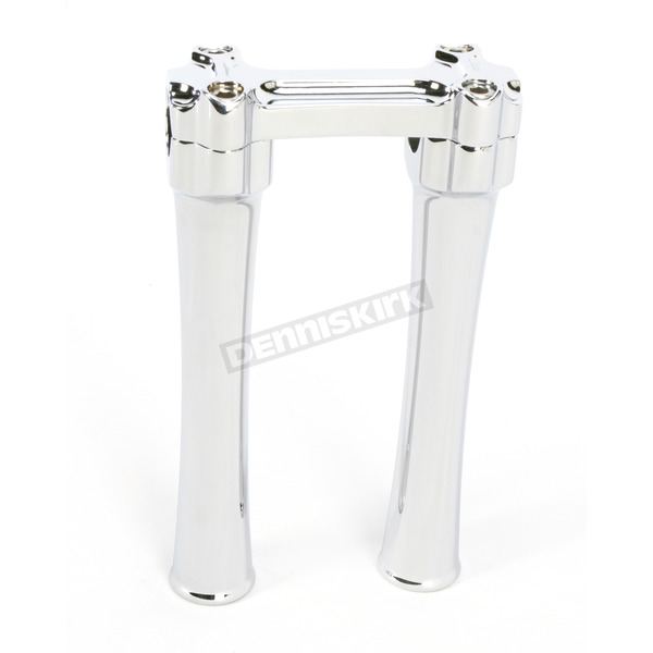 Alloy Art Chrome Bone Bar Risers for 1 in. Handlebars - BBC83-1