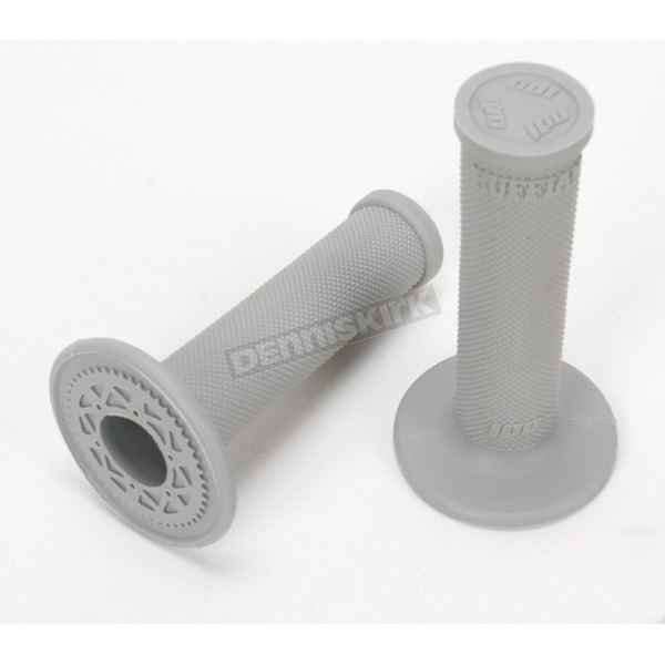 ODI Gray No Waffle MX Single-Ply Grips - H00RFG