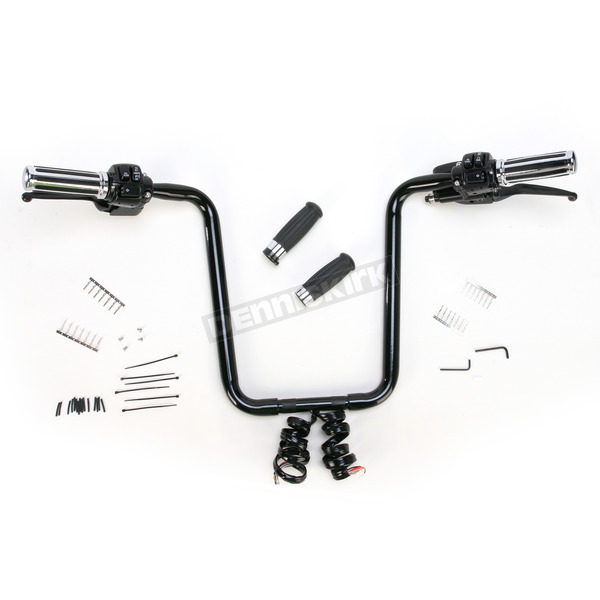 Paughco Black 17 in. Bagger Werx Preassembled 1-1/4 in. Handlebar and Control Kit - 183032