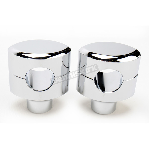 LA Choppers Chrome 1 1/2 in. Smooth Hefty Risers for 1-1/4 in. Handlebars - LA-7406-01