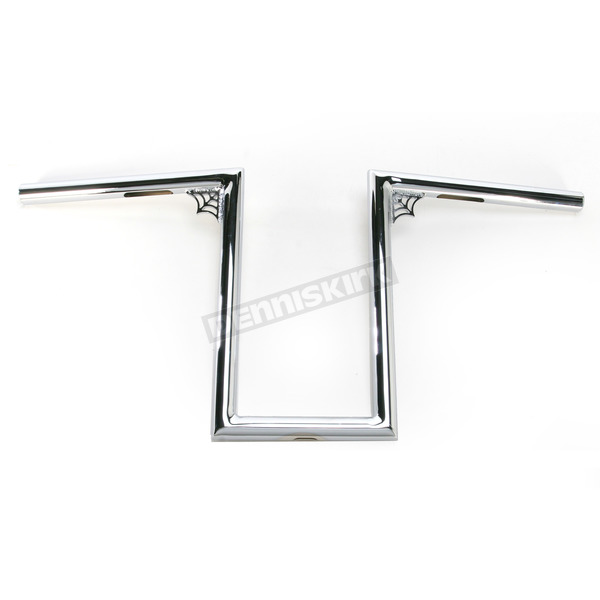 LA Choppers Chrome 12 in. Web Z Old School Handlebar - LA-7380-W12