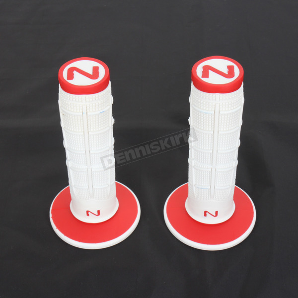 Next Components White/Red Radial Soft/Hard Compound Grips - RD-102