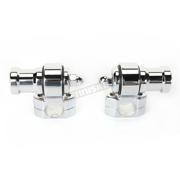 NYC Choppers Chrome Dogbone Handlebar Risers - NYC-26-C