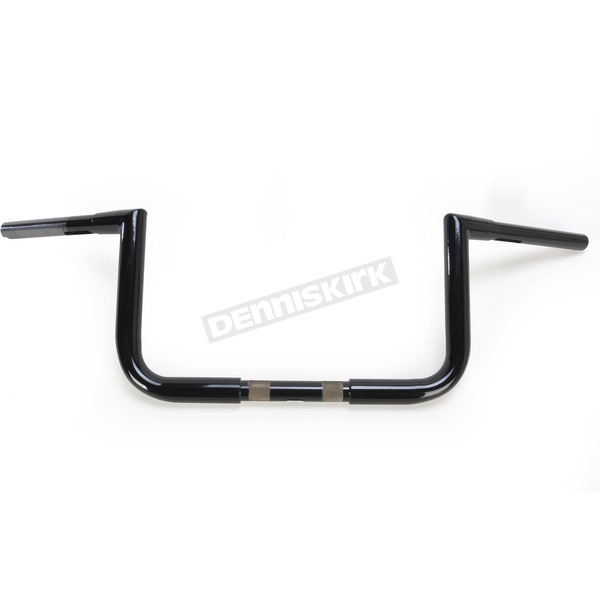 LA Choppers Gloss Black 8 in. Twin Peaks Ape Hanger 1-1/4 in. Handlebars - LA-7361-08B