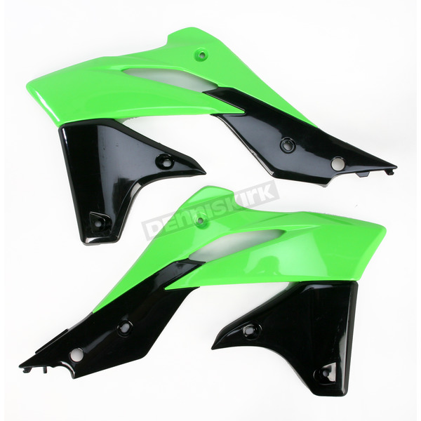 Acerbis Green/Black 13 Radiator Shrouds - 2314161089
