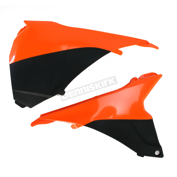 Acerbis Black/KTM Orange Airbox Covers - 2314291008