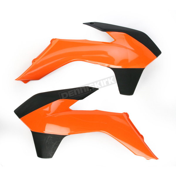 Acerbis KTM Orange/Black Radiator Shrouds - 2314251008