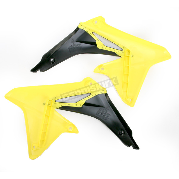 Acerbis Yellow/Black Radiator Shrouds - 2113861017