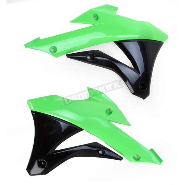 Green/Black Radiator Shrouds  - 2374071089