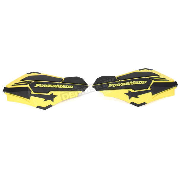PowerMadd Suzuki Yellow/Black Sentinel Handguards - 34406