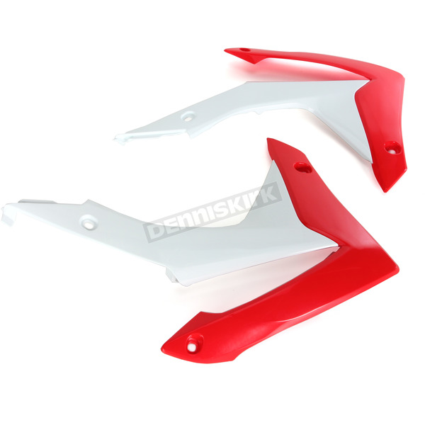UFO OEM Red/White Radiator Covers - HO04657-999